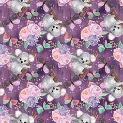 Viimeinen PALA n. 70 cm: Koalat, tumma lila, trikoo