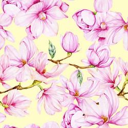 Magnoliat, vaaleankeltainen, trikoo