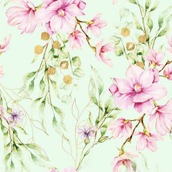 Magnoliat, vaalea minttu, trikoo