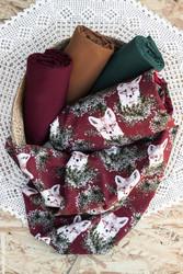 PALA 100 cm: Ketunpojan kurkistus, burgundy, trikoo