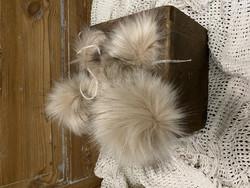 Muhkea keinokarvatupsu 15 cm, soft beige