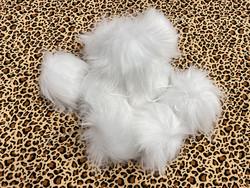 Muhkea keinokarvatupsu 15 cm, valkoinen
