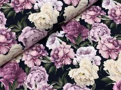 Watercolor peonies, muste, softshell