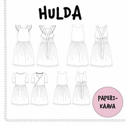 Kaavastudio AinoA: Hulda-mekkokaava (paperikaava, koot 92-140)