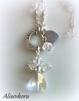 2991 Alise Design  Kristalli enkelikaulakoru
