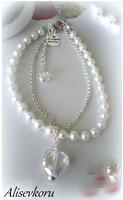 2861 Alise Design - Helminilkkakoru kristallilla, valitse väri