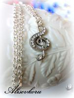 3318 Alise Design Swarowski kristalli nuottiavain kaulakoru