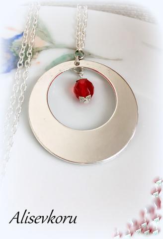 3621 Alise Design Kuunpimennys kaulakoru kristallilla VALITSE VÄRI