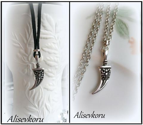 3505,1 Alise Design  Sarviriipus nahkanauha / ketju