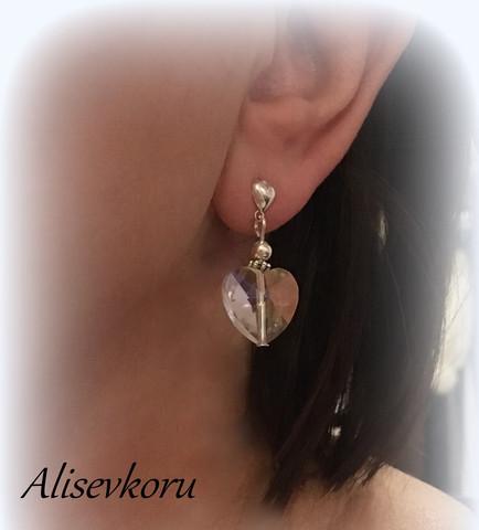 3786 Alise Design  Kristalli sydänkorvakorut