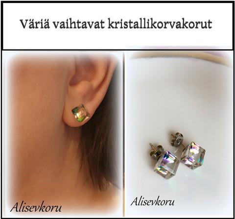 3826 Alise Design  Väriä vaihtavat  säihkyvät kristalli korvakorut