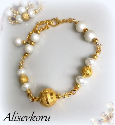 3830 Alise Design  Käsikoru, kullattu