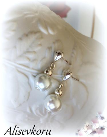 4061 Alise Design  Helmi / kristalli korvakorut  VALITSE MALLI