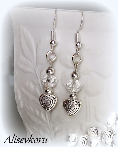 4078 Alise Design  Korvakorut sydän/kristalli VALITSE MALLI