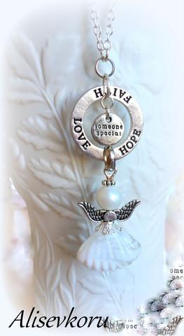 4143 Alise Design  Enkelikoru kaulakoru no. 5