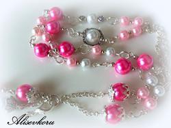 3017 Alise Design Vaaleanpunainen helmiäis - avainkaulakoru