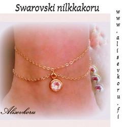 3054 Alise Design Swarovski kristalli nilkkakoru, valitse materiaali