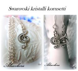 3319 Alise Design Swarowski kristalli nuottiavain korusetti VALITSE PITUUS & MALLI