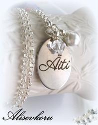 3392 Alise Design Äiti kaulakoru helmellä ja kristallilla VALITSE VÄRI