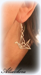 3406 Alise Design Origami lintu korvakorut