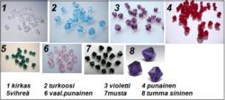 3408 Alise Design Ääretön kristalli - nilkkakoru VALITSE VÄRI