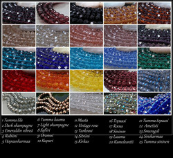 3660 Alise Design  Ketjukäsikoru omalla tekstillä, kristalli / helmi VALITSE VÄRI JA PITUUS