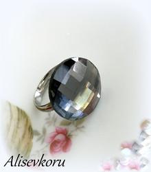 3710 Alise Design Kristallihiottu sormus säädettävä, useita värejä