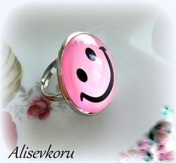 3717 Alise Design Emoji sormus, säädettävä, useita malleja
