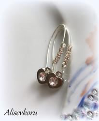 3722  Alise Design Kristalli/sydän korvakorut