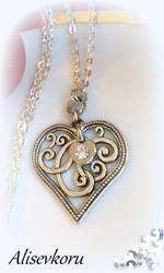 3805 Alise Design  Sydän  kaulakoru