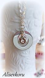 3808 Alise Design Tekstirengas sydämillä
