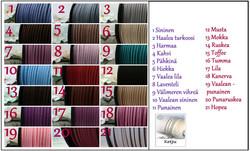 3837  Alise Design Tekstikaulakoru omalla tekstillä, nahkanauha useita värejä