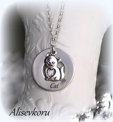 3872,1 Alise Design Kissa tekstikaulakoru omalla tekstillä