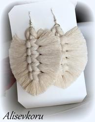 3886 Alise Design Makrame korvakorut valkoinen, valitse malli