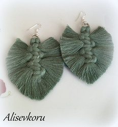 3889 Alise Design Makrame korvakorut vihreä, valitse malli