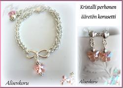 3903 Alise Design Kristalli perhonen korusetti