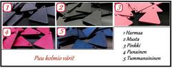 3931 Alise Design Kolmio/ sulka korvakorut