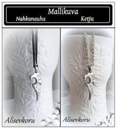 3937 Alise Design  Nuottiavainriipus  nahkanauha/ketju