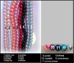 3964 Alise Design  Käsikoru omalla tekstillä helmi / kristalli VALITSE VÄRI