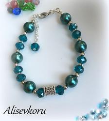 3969 Alise Design  Käsikoru kristalli/helmi VALITSE VÄRI