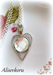 3977 Alise Design Facettikristalli Sydänkaulakoru