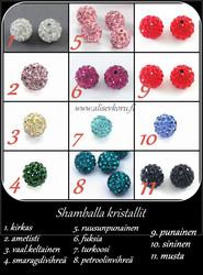 3981 Alise Design  Kristalli käsikoru magneettilukolla, valitse väri