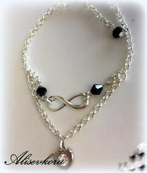3986 Alise Design Ääretön kristalli - nilkkakoru VALITSE VÄRI