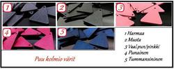 4012 Alise Design Ovaali/kolmio korvakorut kristallilla VALITSE VÄRI