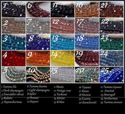 4020 Alise Design  Siivet kaulakoru kristalli/helmi omalla tekstillä
