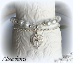 4086 Alise Design Helmi/kristalli käsikoru VALITSE VÄRI