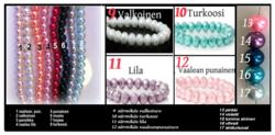 4089 Alise Design ruususiipi korvakorut kristalli/helmi