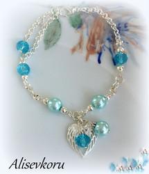 4090 Alise Design Nilkkakoru helmi/kristalli VALITSE VÄRI