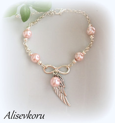 4097 Alise Design Siipikäsikoru helmi/kristalli VALITSE VÄRI