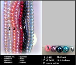 4098 Alise Design Tassu käsikoru helmi/kristalli VALITSE VÄRI